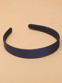Aliceband /  2cm wide Navy satin fabric aliceband