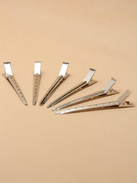 Clips / Pack of 6 Silv metal 9cm section clips.