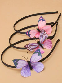 Aliceband / Narrow black aliceband with fabric butterfly.