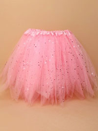 Tutu / Pink net child size Tutu with sequins and glitter.