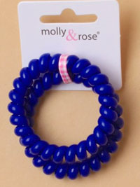 Hair Tie / Card of 2 bright coloured telephone hair ties