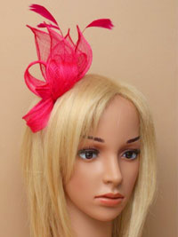 Fascinator / Connie-Twisted sinamay and feather fascinator