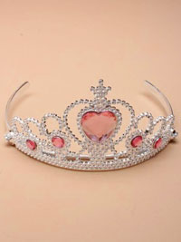Tiara / Silv Plastic tiara with centre heart stone.