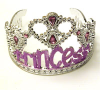 Tiara / Silv Plastic tiara with Princess wording.