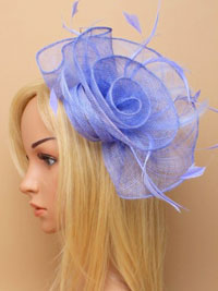 Fascinator / Tiffany - Cornflower blue loops fascinator