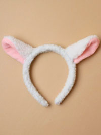 Fancy Dress / White fluffy lamb ears aliceband.