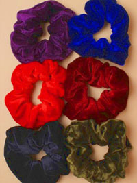 Scrunchie / Large Velvet school colour mix scrunchie.