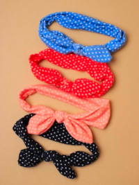 Bandeau / Children's soft fabric polka dot bandeau.
