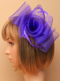 Fascinator / Claire - Centre swirl looped net clip & pin.