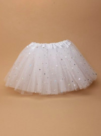 Tutu / White net baby /toddler size Tutu with stars.