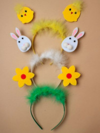 Easter / Bunny,chick and flower Deeley Boppers.