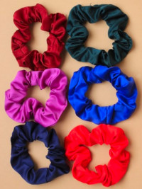 Scrunchie / Small Satin fabric scunchie in school colours.