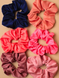 Scrunchie / Small satin fabric scrunchie. Assorted colours