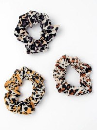 Scrunchie / Animal print fabric scrunchie.