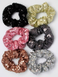 Scrunchie / Sequin fabric scrunchie.