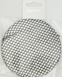 Bun Net / Black mesh. Diameter approx. 10cm