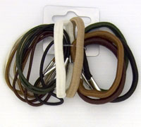 Elastics /18pk Mixed Natural Coloured Elastics.