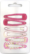 Sleepies / 6pk Assorted pink 5cm