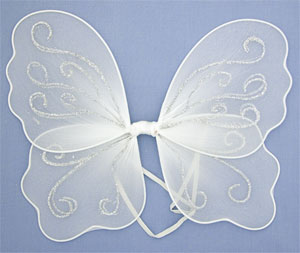 Fairy Wings / Small Size in White. Size : 30x28cm.