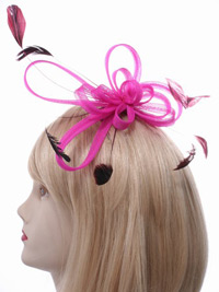 Fascinator / Maisy - Coloured coiled net fascinator.