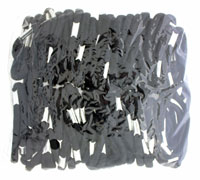 Elastics / 100 piece bag of black 5mm elastics.