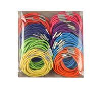 Elastics / 100 piece bright coloured thin elastics.