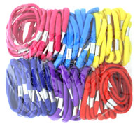 Elastics / 100 piece bag of thick bright coloured elastics.