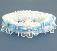 Garter / Fancy lace and ribbon.