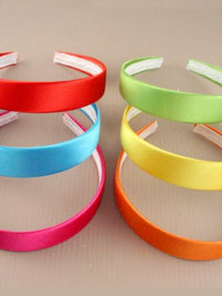 Aliceband /  2.5cm Bright coloured satin