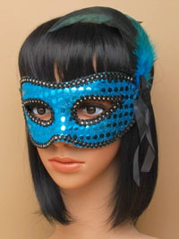 Mask / Sequin and feather detail mask