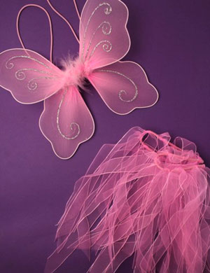SET / Small Wings and tutu set in Pink only