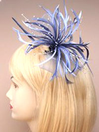 Fascinator / Willow - Silver grey Looped net fascinator.