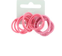 Elastics / 12pk very small pink thin elastics