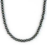 NECKLET, HAEMATITE 4mm