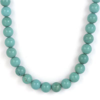 NECKLET, TURQUOISE 8mm