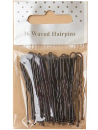 Hairpins / Pack of 36 in Black. 45mm.