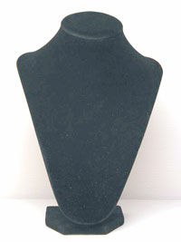 Black Velvet Jewellery Bust Necklace Display Stand.