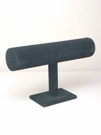 Black Velvet Single bar bangle Display Stand.