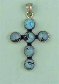 SILVER CROSS, TURQUOISE