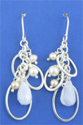 SILVER EARRING, BLUE LACE/FWP