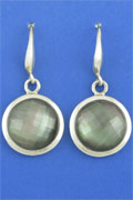 SILVER EARRING, GREY SHELL